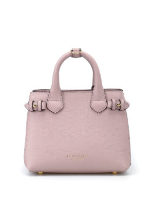 Burberry: totes bags - The Baby Banner pink mini handbag