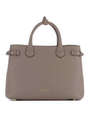Burberry: totes bags - The Banner leather medium tote