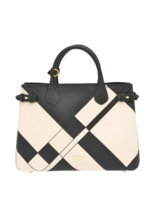 Burberry: totes bags - The Banner two-tone medium bag