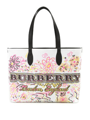 Burberry: totes bags - The Doodle reversible jute tote