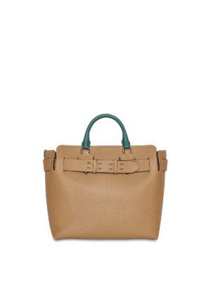 BURBERRY  shopper - Borsa The Belt Bag media in pelle tricolore 6f5f6d2bc241f