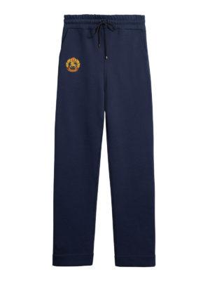 BURBERRY: pantaloni sport - Tuta con stemma archivio ricamato
