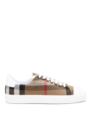 Burberry: trainers - Checked canvas sneakers