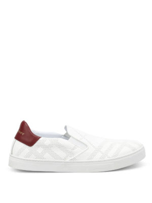 Burberry: trainers - Copford drilled Check pattern shoes
