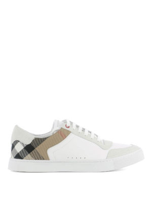 Burberry: trainers - Lace-up leather sneakers