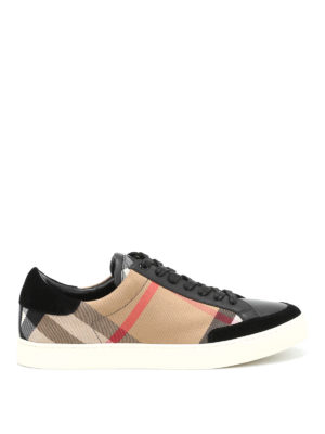 Burberry: trainers - Leather and canvas sneakers