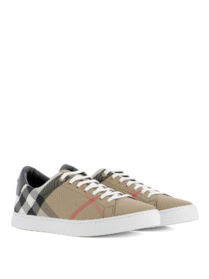 Burberry: trainers online - Check printed sneakers