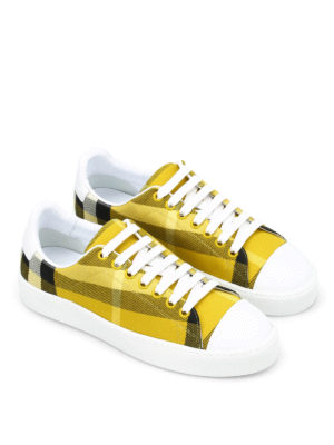 Burberry: trainers online - Checked canvas sneakers