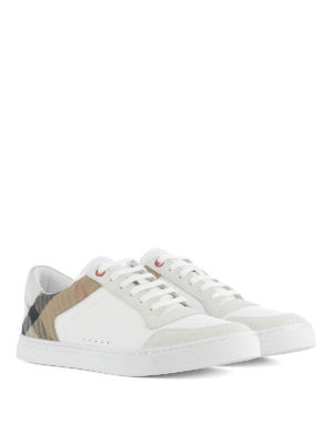 Burberry: trainers online - Lace-up leather sneakers