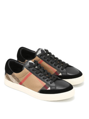 Burberry: trainers online - Leather and canvas sneakers