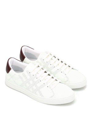 Burberry: trainers online - Perforated leather sneakers