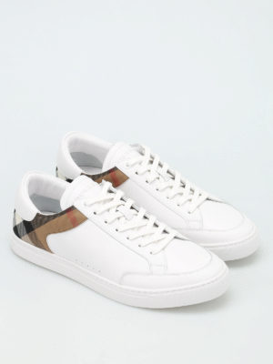 Burberry: trainers online - Rettford leather sneakers