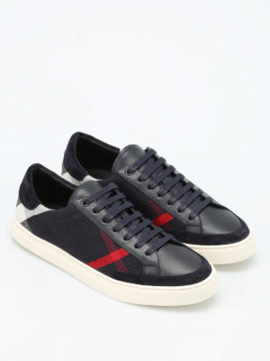 Burberry: trainers online - Reynold leather and canvas trainers