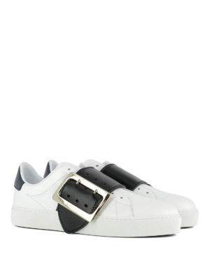 Burberry: trainers online - Westford leather sneakers
