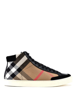 Burberry: trainers - Painton high-top trainers