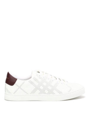 Burberry: trainers - Perforated leather sneakers