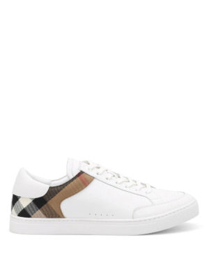 Burberry: trainers - Rettford leather sneakers