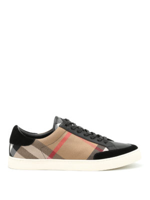 Burberry: trainers - Reynold leather and canvas trainers