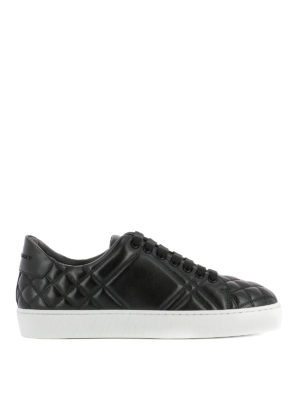 Burberry: trainers - Westford quilted leather sneakers