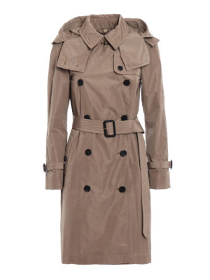 Burberry: trench coats - Amberford beige taffeta trench coat
