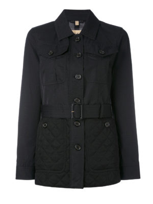 Burberry: trench coats - Argyle quilted bottom trench