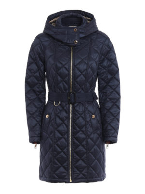 Burberry: trench coats - Baughton quilted trench coat