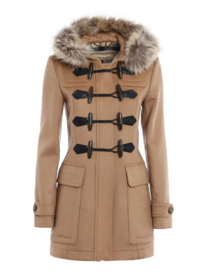 Burberry: trench coats - Blackwell fur insert wool trench
