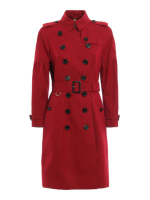 Burberry: trench coats - Cotton knee-length trench