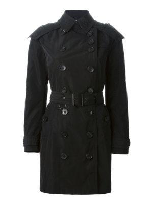 Burberry: trench coats - Detachable hood taffeta trench