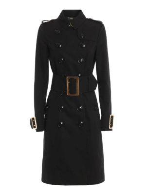 Burberry: trench coats - Maxi buckles gabardine trench coat