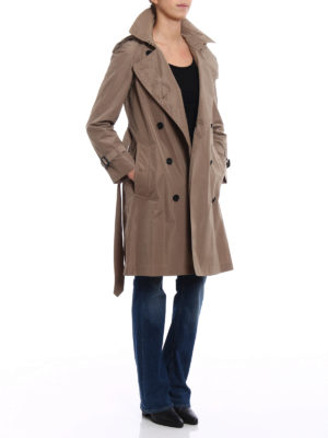 Burberry: trench coats online - Amberford beige taffeta trench coat