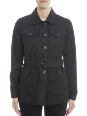 Burberry: trench coats online - Argyle quilted bottom trench