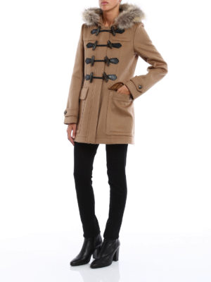 Burberry: trench coats online - Blackwell fur insert wool trench
