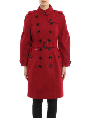Burberry: trench coats online - Cotton knee-length trench