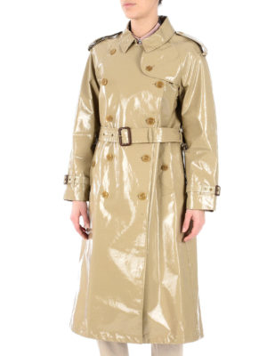 Burberry: trench coats online - Laminated gabardine trench coat