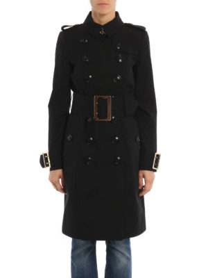 Burberry: trench coats online - Maxi buckles gabardine trench coat