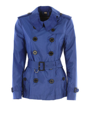 Burberry: trench coats - Semiglossy nylon short trench