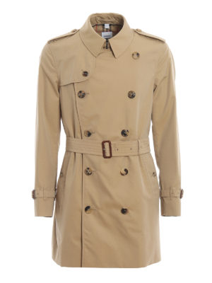 BURBERRY: cappotti trench - Trench Wimbledon in gabardina di cotone
