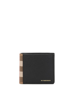 Burberry: wallets & purses - Bi-fold leather wallet