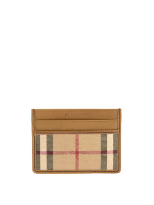 Burberry: wallets & purses - Canvas and leather card holder