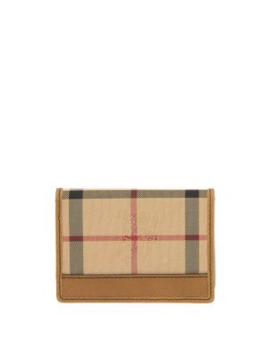 Burberry: wallets & purses - Canvas Check and leather wallet