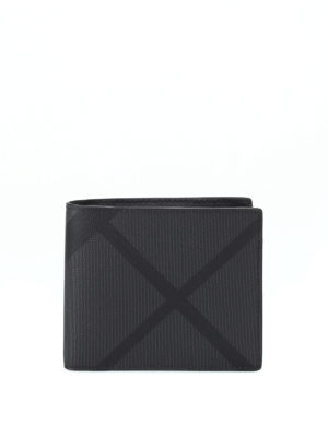 Burberry: wallets & purses - Check patterned bifold wallet