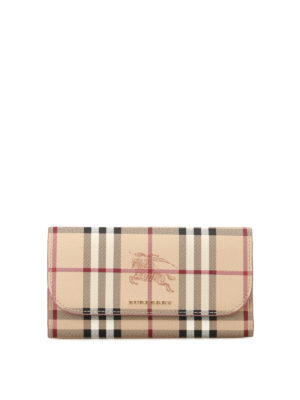 Burberry: wallets & purses - Haymarket Check continental wallet