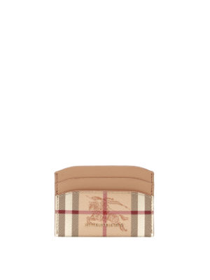 Burberry: wallets & purses - Haymarket Check pattern card holder