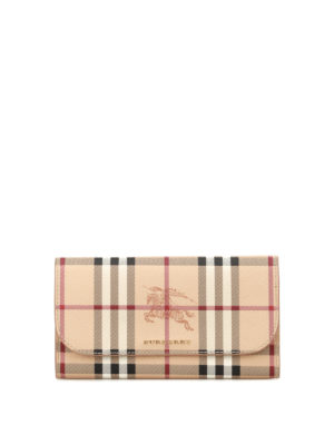 Burberry: wallets & purses - Haymarket Check printed wallet