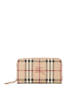 Burberry: wallets & purses - Haymarket Check zip-around wallet