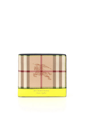 Burberry: wallets & purses - Haymarket tricolour leather wallet