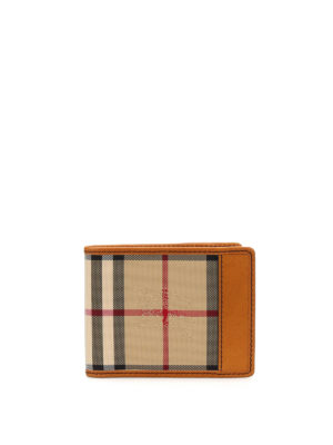 Burberry: wallets & purses - Horseferry Check Hipfold wallet
