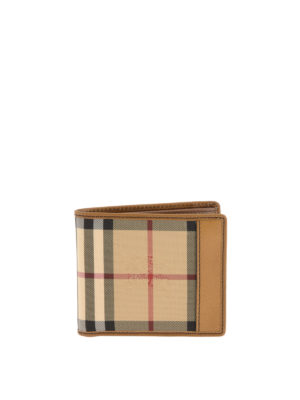 Burberry: wallets & purses - Horseferry check patterned wallet