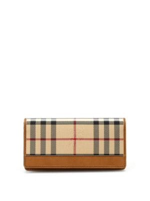 Burberry: wallets & purses - Horseferry check wallet